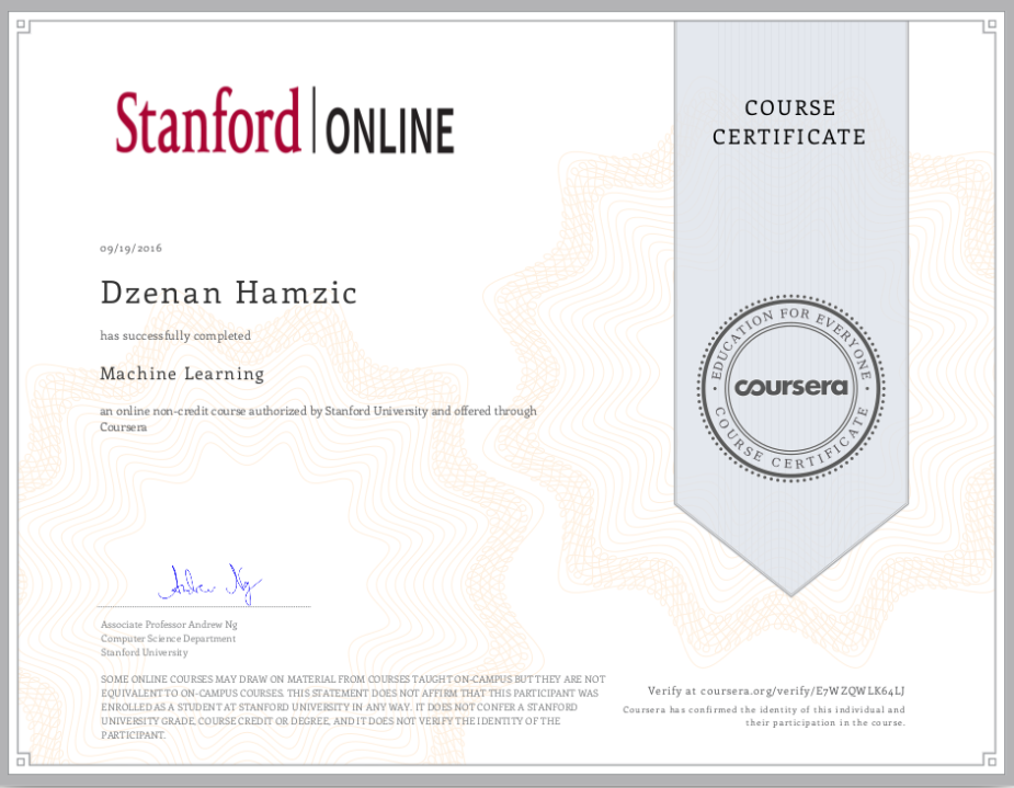 machine-learning-stanford-dzenan-hamzic