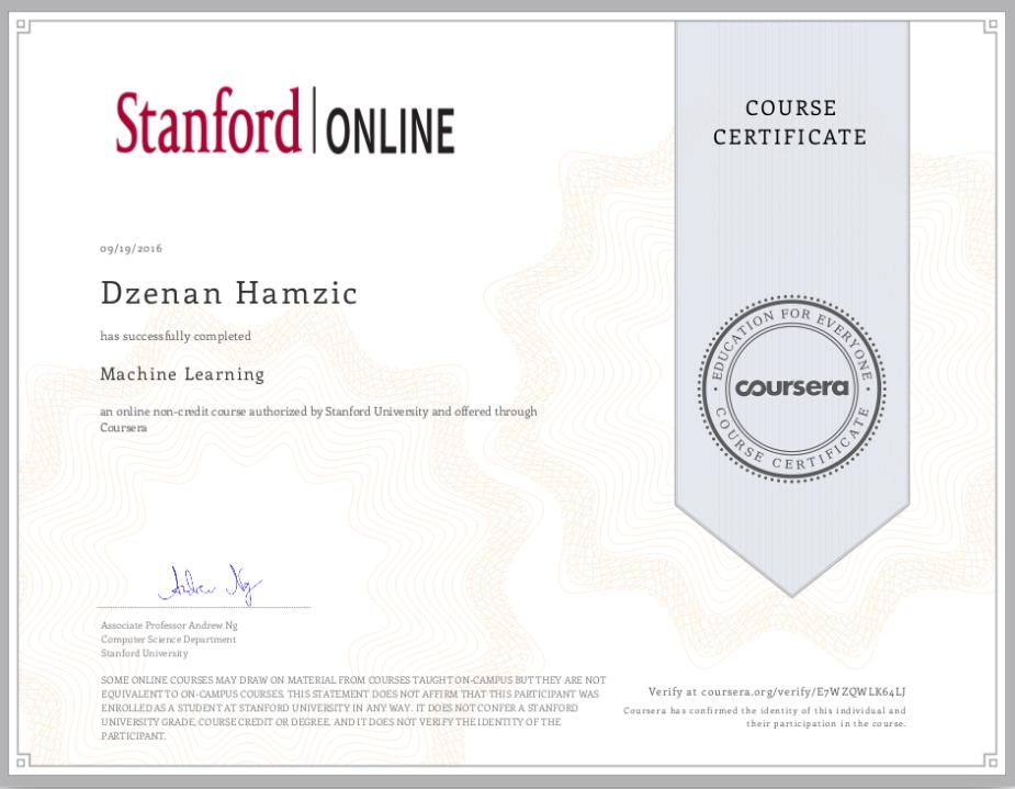machine-learning-stanford-dzenan-hamzic