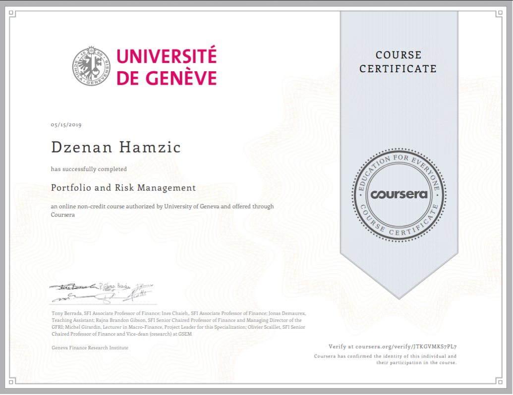 PortfolioAndRiskManagement-Certificate